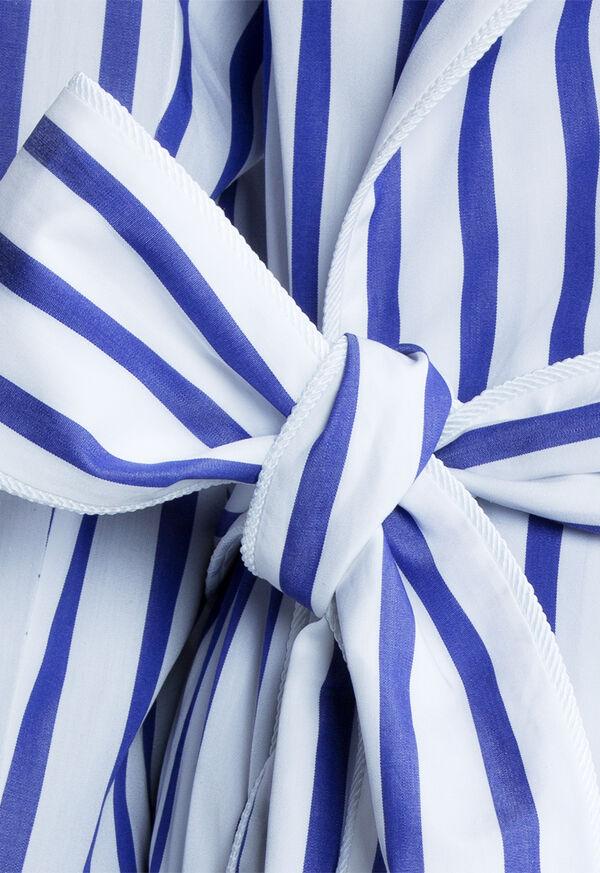 Awning Stripe Cotton Robe, image 5