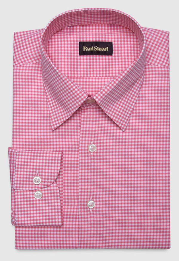 Cotton Gingham Sport Shirt, image 1