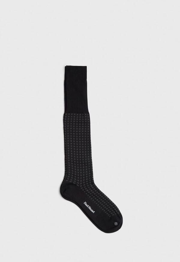 Cotton Blend Box Motif Sock, image 1