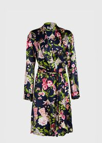 Floral Silk Robe, thumbnail 1