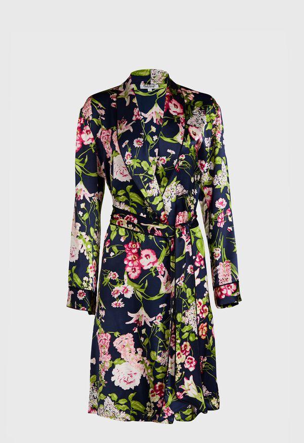 Floral Silk Robe, image 1