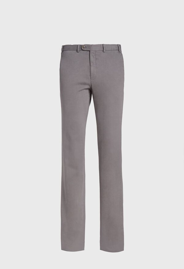 Solid Cashmere and Cotton Enzyme Wash Plain Front Trouser, image 1