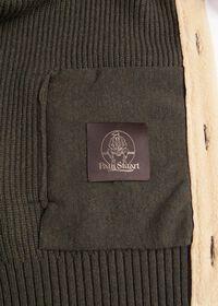 Shearling Trim Cardigan Jacket, thumbnail 3