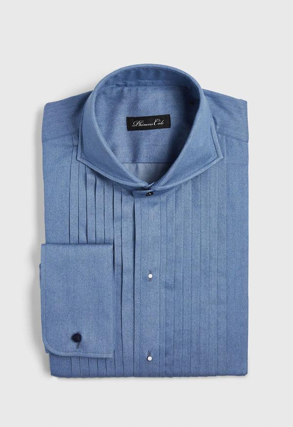 Pleated Bib Front Tuxedo Shirt, image 1