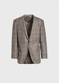 Wool Plaid Classic Shoulder Suit, thumbnail 3