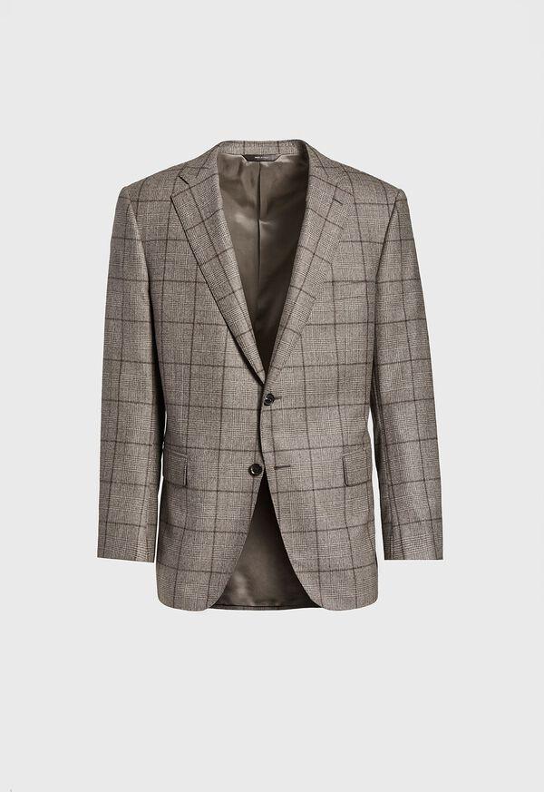 Wool Plaid Classic Shoulder Suit, image 3