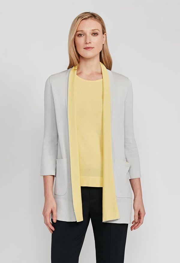 Contrast Color Cardigan, image 1