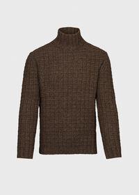 Patterned Mock Neck Sweater, thumbnail 1
