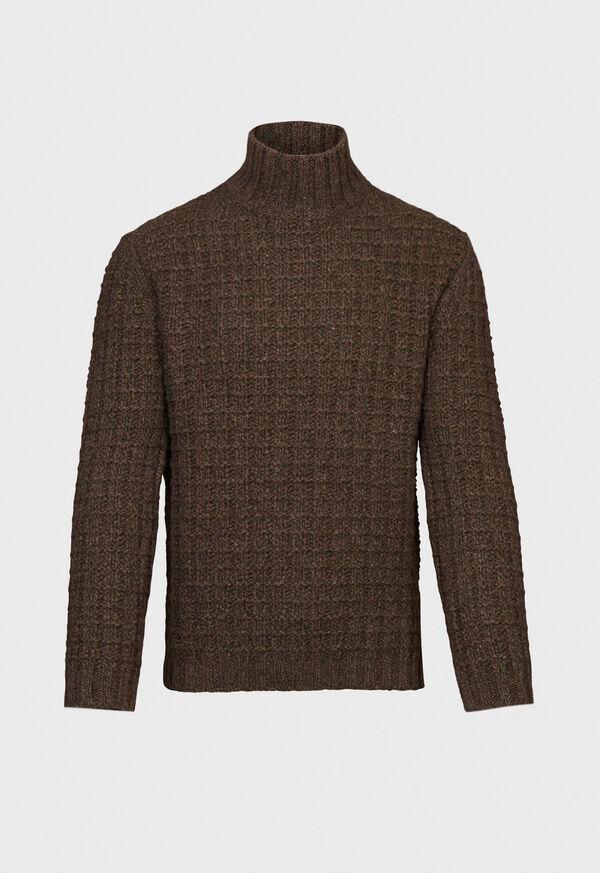 Patterned Mock Neck Sweater, image 1