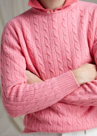 Cable Knit Pullover Sweater, thumbnail 4