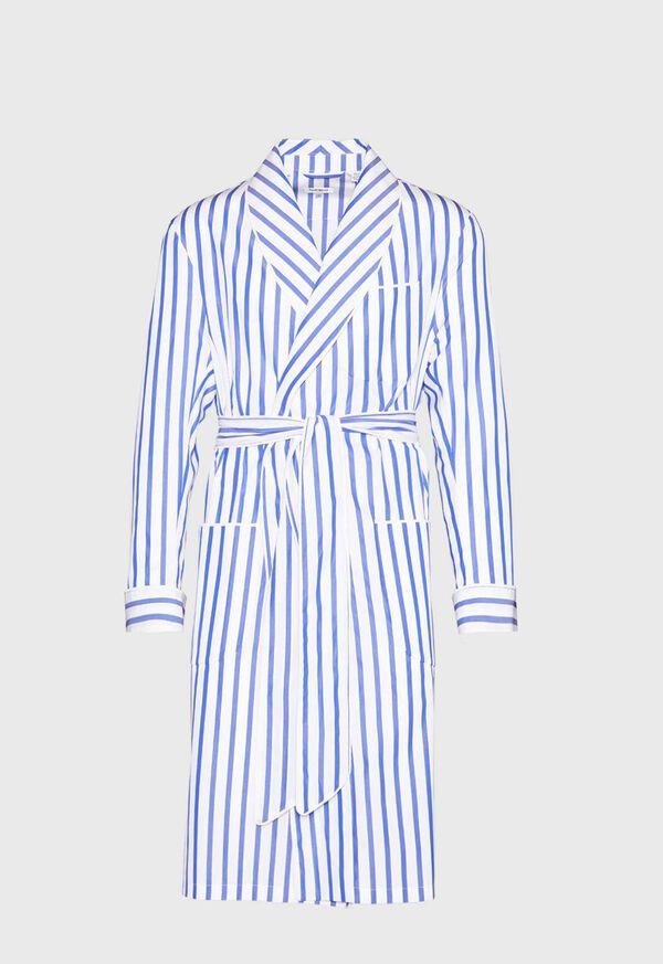 Awning Stripe Cotton Robe, image 1