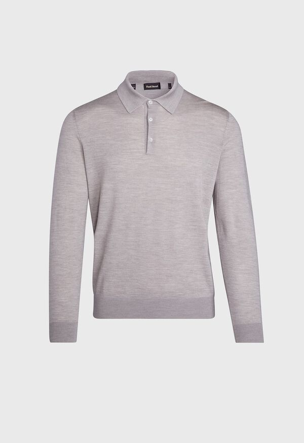 Long Sleeve Cotton Polo