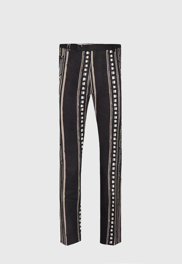 Linen Exotic Stripe Pant