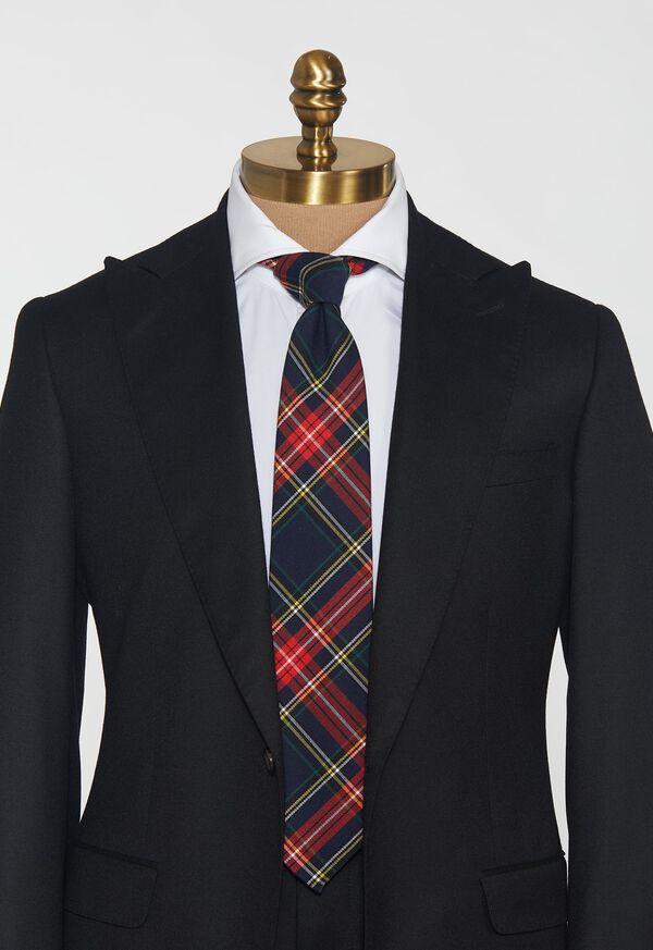 Plaid Unlined Tie, image 2