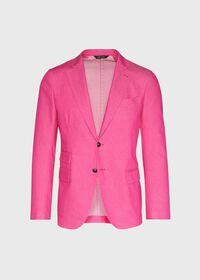 Pink Cotton Blend Denim Jacket, thumbnail 1
