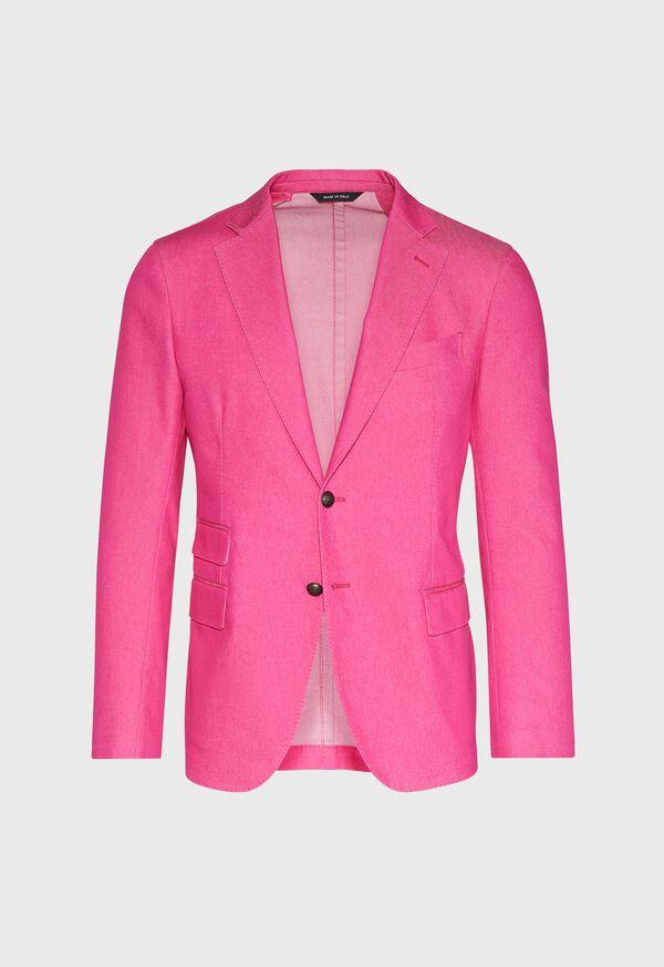 Pink Cotton Blend Denim Jacket, image 1