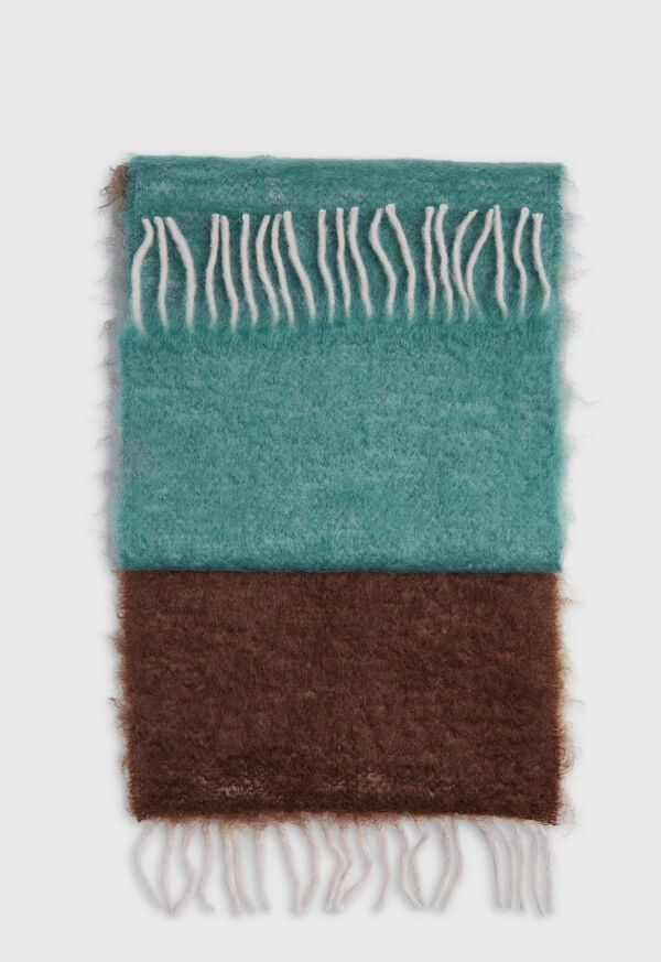 Colorblock Mohair Scarf, image 2