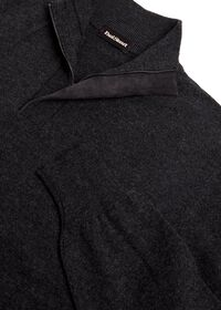 Cashmere  1/4 Zip Sweater with Suede Placket, thumbnail 2