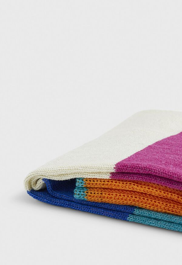 Multi Color Stripe Crew Sock, image 2