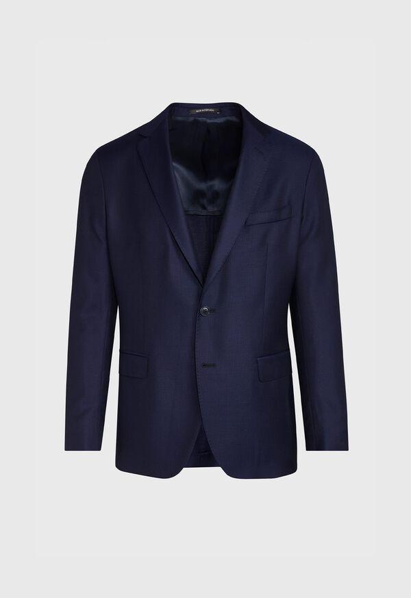 Navy Hopsack Soft Jacket, image 1
