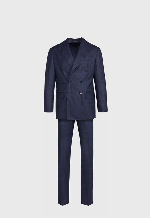 Double Breasted Tic Weave Suit, image 1