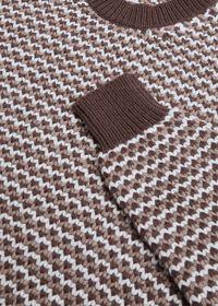 Brown Fancy Weave Sweater, thumbnail 2