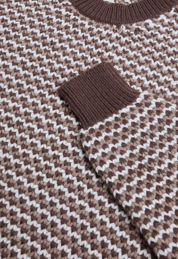 Brown Fancy Weave Sweater, image 2