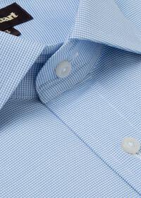 Slim Fit Blue Royal Oxford Cotton Dress Shirt, thumbnail 2