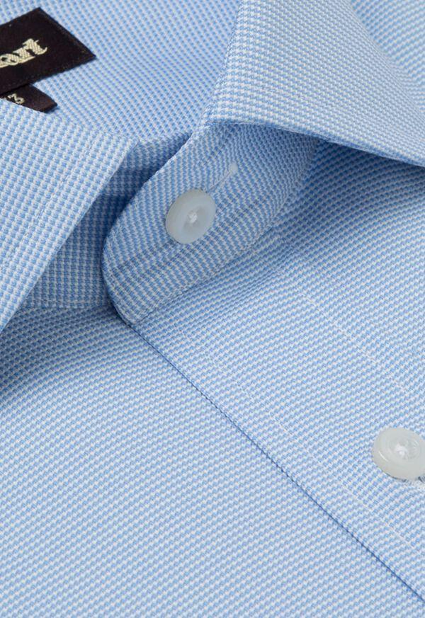 Slim Fit Blue Royal Oxford Cotton Dress Shirt, image 2