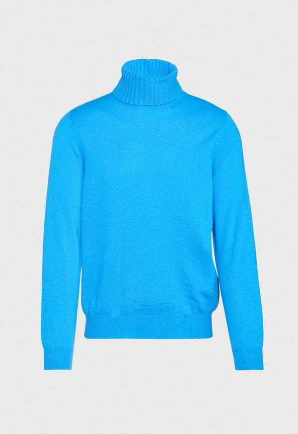Cashmere Solid Turtleneck, image 2