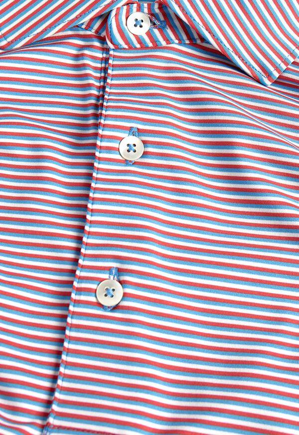 Multi Color Stripe Performance Polo, image 2