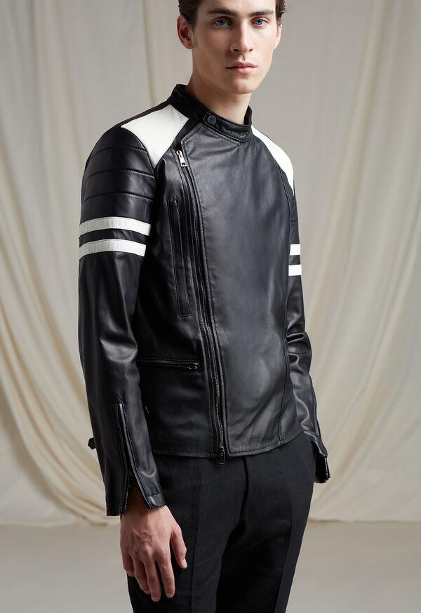 Black Leather Motorcycle Jacket, image 2