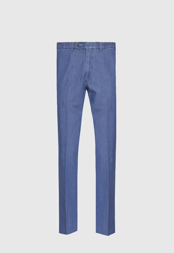 Denim Cotton Stretch Newton Plain front Pant