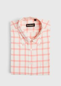 Windowpane Brushed Flannel Sport Shirt, thumbnail 1