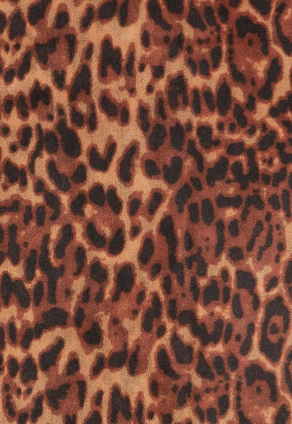 Leopard Print Lightweight Cashmere Scarf, image 2