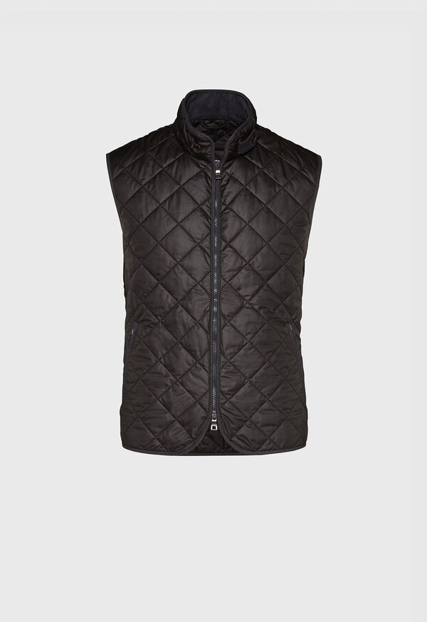 Nylon Quilted Vest with Piping, image 1