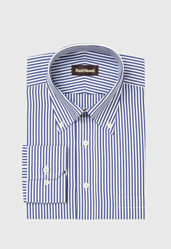 Navy Bengal Stripe Cotton Dress Shirt