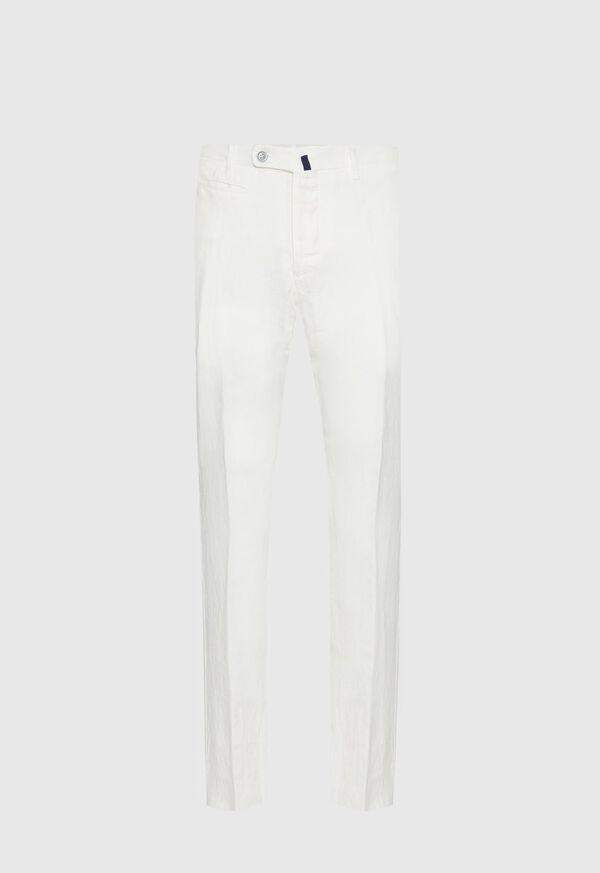 Linen Plain Front Pant