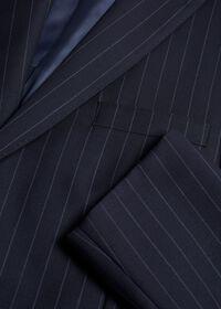 Navy Stripe Super 110s Wool Suit, thumbnail 2