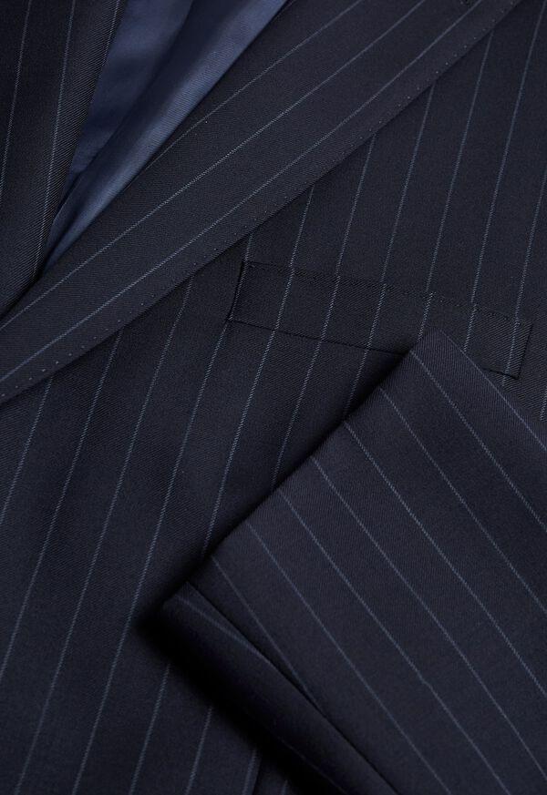 Navy Stripe Super 110s Wool Suit, image 2