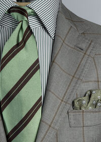 Wool Windowpane Suit, thumbnail 2