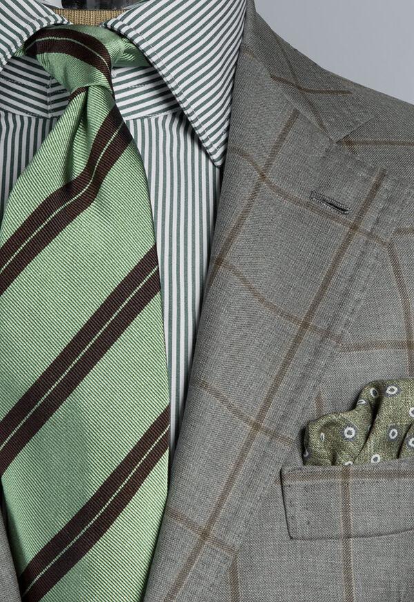 Wool Windowpane Suit, image 2