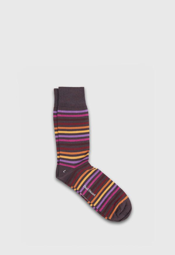 Wool Blend Multicolor Stripe Sock, image 1