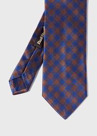 Gingham Check Silk Tie, thumbnail 1