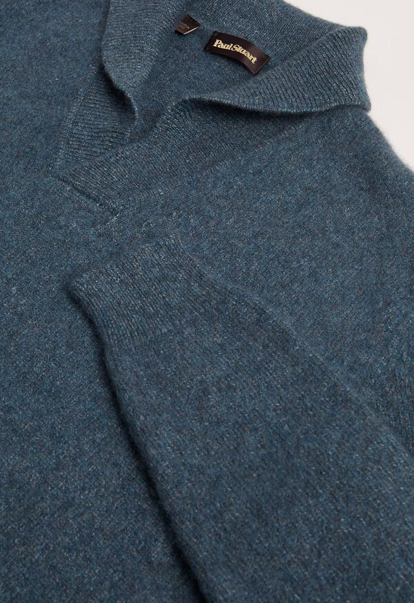 Cashmere Blend Shawl Collar Pullover Sweater, image 2