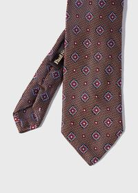 Textured Ground and Royal Square Silk Tie, thumbnail 1