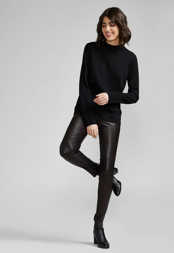 Stretch Leather Legging, image 3