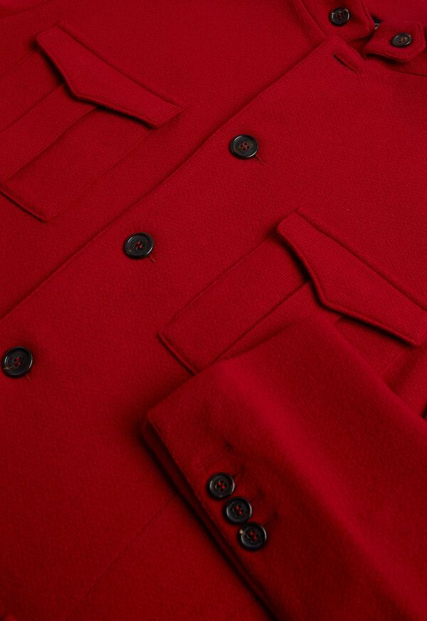 Red Cashmere Military Jacket, image 3