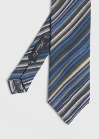 Wool Multi Stripe Tie, thumbnail 1