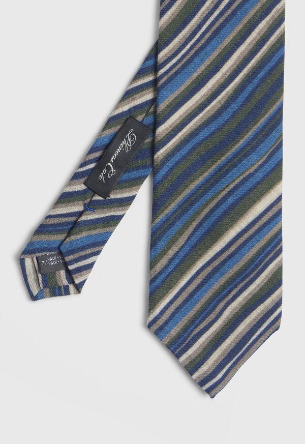 Wool Multi Stripe Tie, image 1